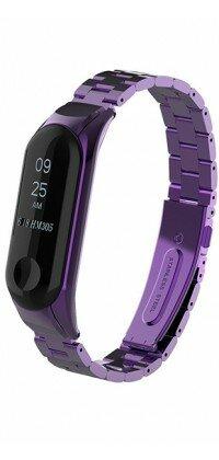 Металлический ремешок для Xiaomi Mi Band 4 (Фиолетовый)