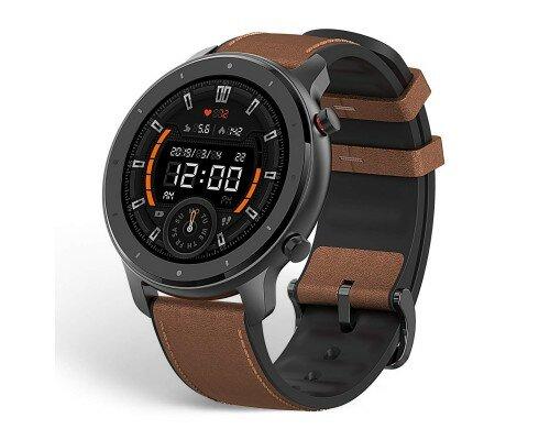 Часы Amazfit GTR 47 mm aluminium case, leather strap (Global Version)